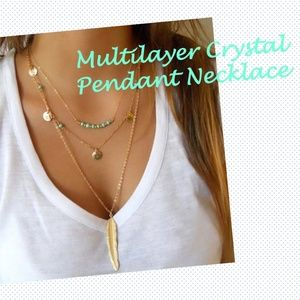 🆕 NEW Multilayer Gold Necklace (Comes with a box)